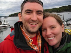 Honeymoon - Bar Harbor just off the boat
