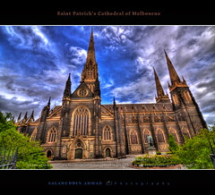 Saint Patrick's Cathedral of Melbourne (saahmadbulbul) Tags: light urban landscape cathedral naturallight australia melbourne cannon dramaticsky hdr gettyimages stockphoto saintpatrickscathedral landscapephotography canon50d salahuddinahmadphotography cheapstockphoto sellphotosonline australianstockimages