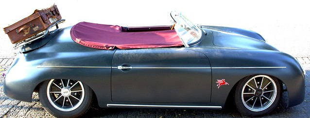 old porsche cabrio