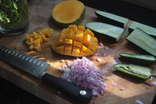 chopping in progress