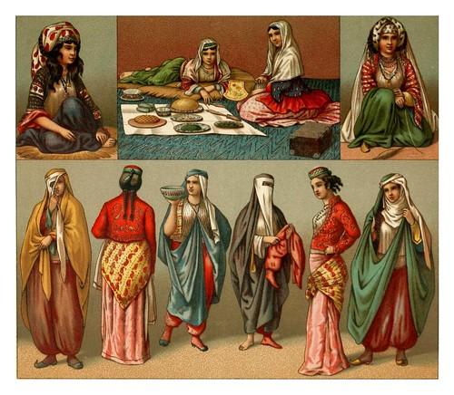 013-Vestimentas de mujeres persas -Geschichte des kostüms in chronologischer entwicklung 1888- A. Racinet