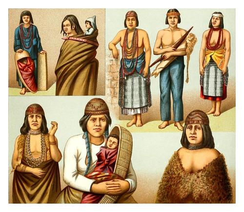 026-Indios de Oregon y California -Geschichte des kostüms in chronologischer entwicklung 1888- A. Racinet