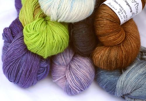 Fingering weight silk yarn