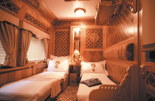 State Cabin, by night - Eastern Oriental Luxury TrainCarriage EO State
