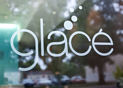 Glacé Door Decal (Nathaniel Cooper) Tags: detail logo restaurant design graphicdesign graphics graphic business identity logos branding collateral restaurantdesign nathanielcooper