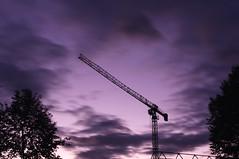 New things on the horizon.... (Tim Ebbs) Tags: longexposure trees sunset silhouette clouds miltonkeynes purple crane filter nd mkfshenleywood