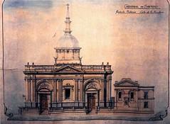 la catedral elevacion fachada por calle Bandera segun proyecto Cremonesi (santiagonostalgico) Tags: chile santiago urbano antiguo patrimonio santiagonostalgico