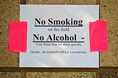 _DSC5367 (dogseat) Tags: sports sign sport words jerseycity no nj drinking smoking kickball whitestar jcpb