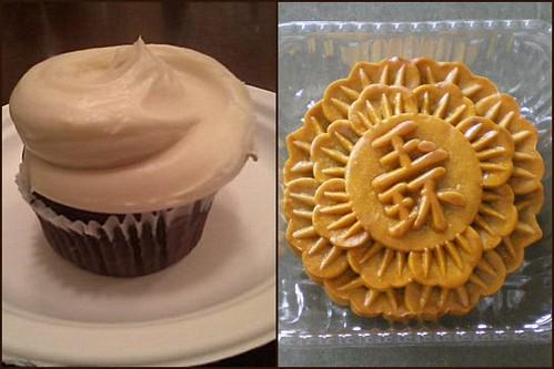 Magnolia Cupcake & Pandan Mooncake