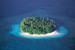 Small island off Samoa, Pacific