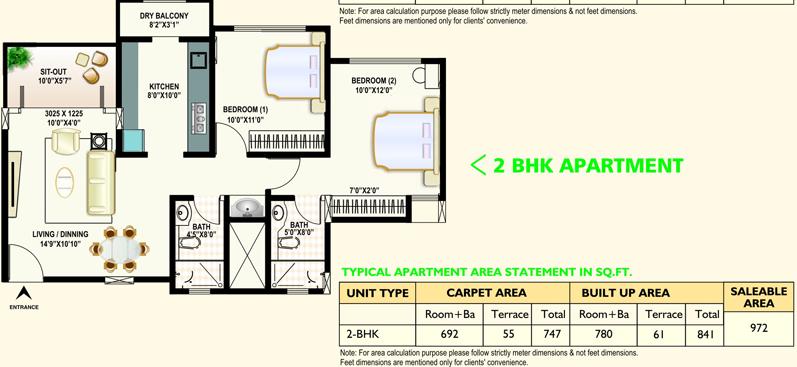 DSK Meghmalhar Dhayari 2 BHK Flat