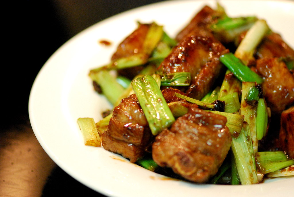 Stir-Fry Pork Ribs with Oxyster Sauce and Black Bean Paste