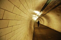 tunnel vision (Ros Marinus) Tags: cold london wet thames river dark underground nikon greenwich tunnel eerie docklands damp d40 clickcamera
