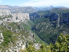 Panoramic view of Verdon canyon