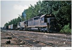 CRR 3610 & L&N 1509 (Robert W. Thomson) Tags: railroad train diesel tennessee railway trains locomotive uboat trainengine ge u25 ln etowah sd45 crr emd louisvillenashville sd452 clinchfield sixaxle u25c