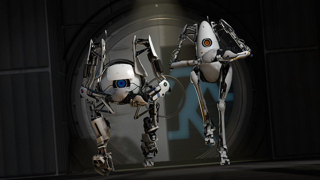 Portal 2 robots cooperative mode