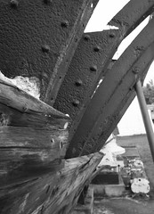 Wooden Ship (Cindy's Here) Tags: wood bw canada canon boat steel manitoba textures selkirk marinemuseum
