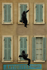 Falling with Style (REMIX - Two shots merged) (DaveKav) Tags: paris france disneyland olympus disney falling stunt stuntman e510
