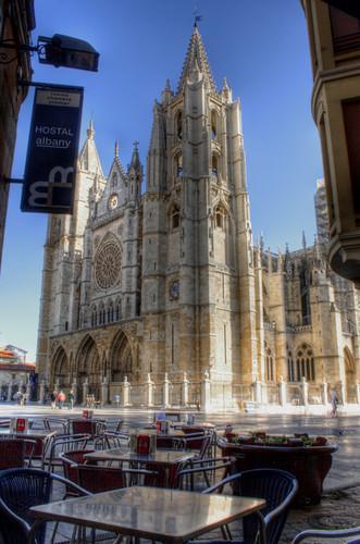 Leon cathedral. Spain. Catedral de León. España.
