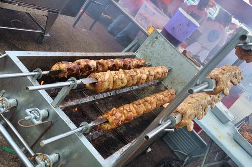 Rolling BBQ chicken