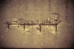 Exposed (lisbokt) Tags: street city urban rock concrete rocks downtown industrial cement streetphotography dirty minimal urbano minimalism minimalismo plain  exposed rebar rocas beton grungy felsen urbain minimalisme minimalismus sideofabuilding  urbanmacro   industrialmacro  minimalizam     naumhyggju   ximng  minimalismia  streetmacro