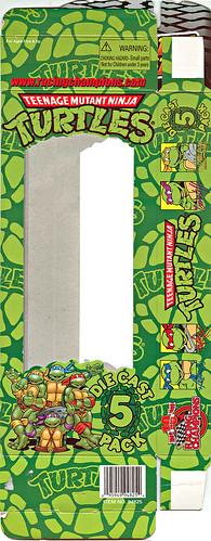 "Racing Champions ""Street Wheels"" diecast 1:64 scale - 'Teenage Mutant Ninja Turtles' 5 pack :: CARD i (( 1999 ))"
