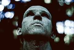 Gdask (GoPlay!) Tags: boy portrait forest 50mm weird thinking dreamy whitepaint lookingfaraway paitedface