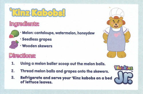 Finding bonggamom webkinz party recipes kinz kabobs forumfinder Choice Image