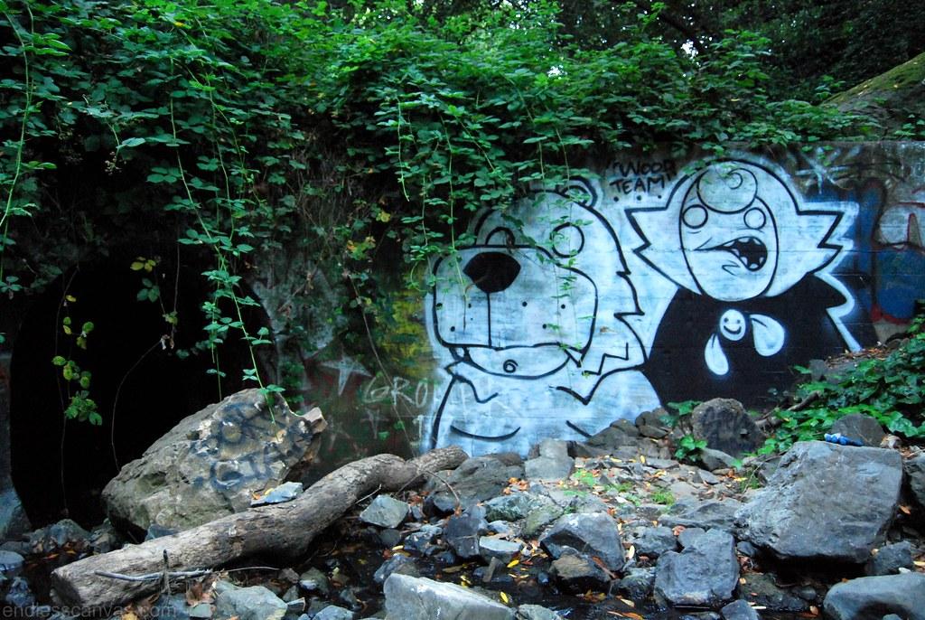 GORSE Bear, STEW Character Graffiti - Oakland, CA.