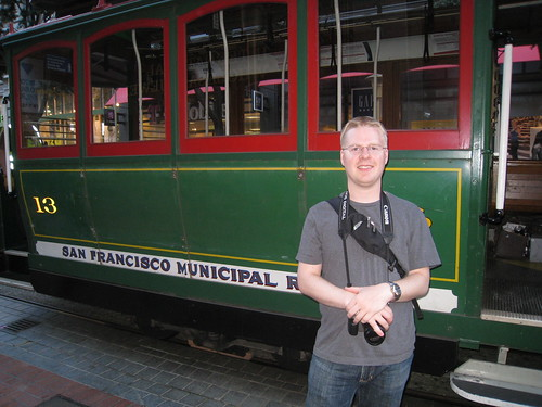 Mack in front of the cable car