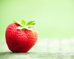 Berry-Good. (CarolynsHope) Tags: red color green fruit juicy strawberry berry colorful bright vibrant vivid fresh minimal eat snack simple vitamins ripe nutrition nutritious nutritional carolynshope