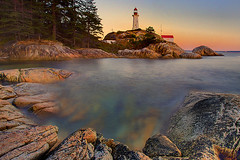 Point Atkinson-Lighthouse Park -Vancouver (kevin mcneal) Tags: ocean sunset water vancouver lighthouses cover horseshoebay westvancouver vancouverolympics pointatkinsonlighthouse ☆thepowerofnow☆