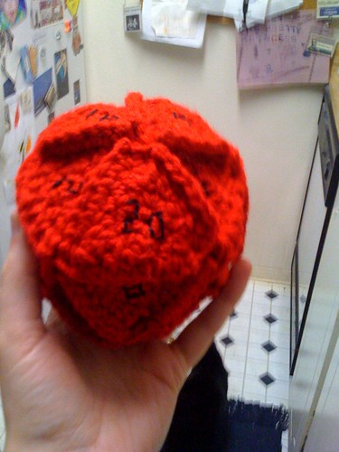 Crocheted d20