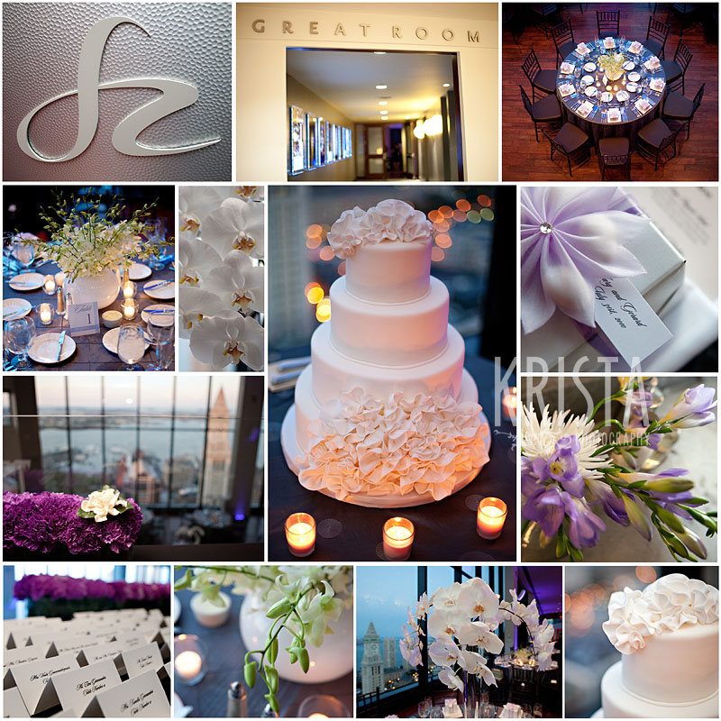 Purple & White State Room Reception Details