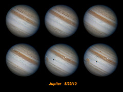Jupiter best captures from 8/29/10 (zAmb0ni) Tags: red sky night solar great spot system io telescope planet animation astronomy jupiter astrophotograpny