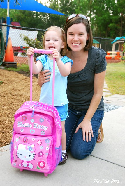 Lauren & Me - first day of preschool!
