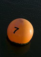 No 7 (Chalto!) Tags: sea orange creek river number isleofwight mooring newtown buoy iow buoyant