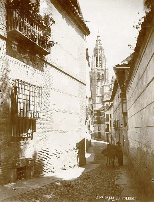Calle de Santa Isabel en el siglo XIX. Fotografía de Casiano Alguacil