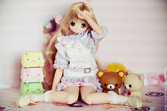 (Kinomi ) Tags: pink cute toys japanese doll tofu kawaii rilakkuma azone pureneemo chiika excute