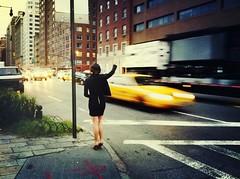 """No Cab for the Pretty Lady"" (Sion Fullana) Tags: nyc people urban newyork painterly blur beauty highheels cab citylife streetshots streetphotography westvillage taxis motionblur allrightsreserved sexylegs beautifulgirl newyorkers newyorklife iphone yellowtaxi blackskirt creativeblur yellowcabs pictorialism urbanshots urbannewyork newyorktaxis iphone4 iphonephotography iphoneshots iphoneography iphoneographer sionfullana crossprocessapp swankolabapp hdrproapp throughthelensofaniphone girlwaitingforataxi"