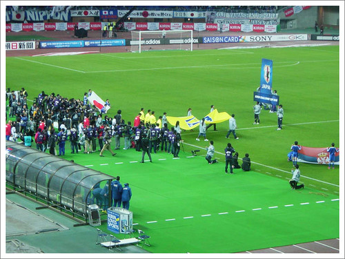 FIFAアンセムとともに入場@日本代表 VS セルビア代表_201004