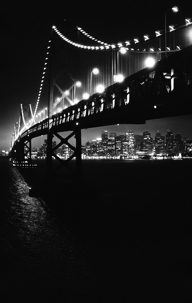 Bay Bridge, Nikon FM2 with Neopan 1600
