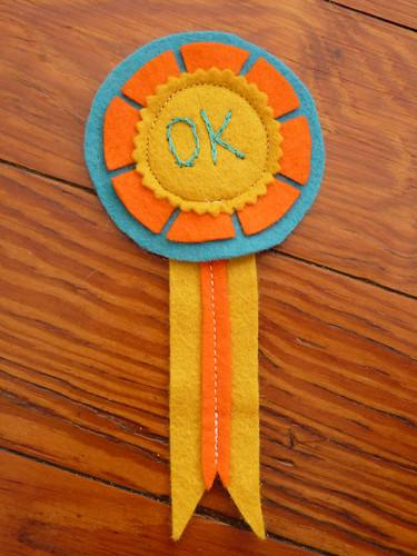 OK winner medal
