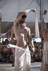 Center Camp Performer (Chicago_Tim) Tags: city camp man black art festival rock cafe nevada center burningman blackrockcity burning brc metropolis performer centercamp 2010 burningman:camp=2399