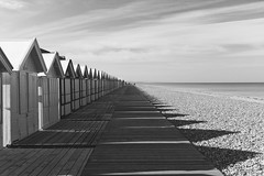 On the Beach (g_heyde) Tags: france beach cabin frankreich shadows normandie normandy schatten m9 cayeuxsurmer badehuser