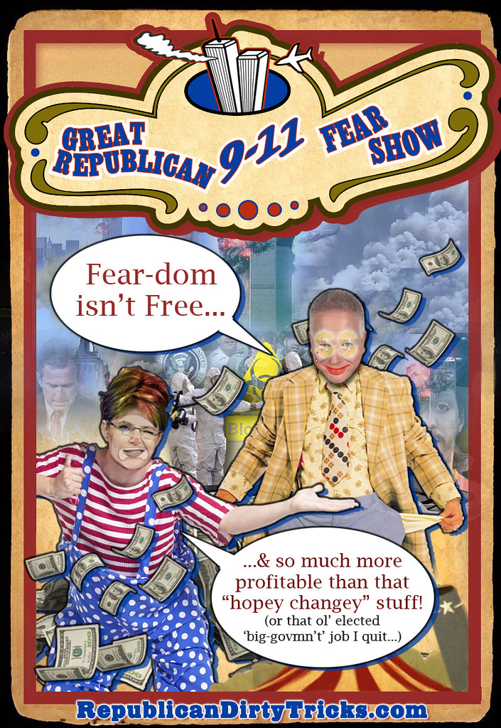 Great Republican 911 Fear Show with Sarah Palin and Glenn Beck Image