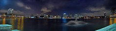 west lake - panorama (pbo31) Tags: california longexposure panorama lake color water night photoshop dark oakland big lowlight nikon wide large panoramic september lakemerritt bayarea eastbay d200 alamedacounty 2010