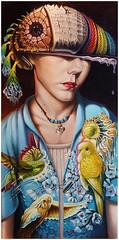 Budgie-Sattva II (Cody Seekins) Tags: gay boy portrait plants man orchid flower art boys sex america painting thailand buddha acid low surreal elf oil cody psychedelic shaman shamanic revival shamanism brow seekins ethneogenic