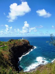 Kilauea Lighhouse View , Kauai (moonjazz) Tags: ocean travel lighthouse color colour green landscape photography hawaii drive pacific cove horizon rocky blues landmark tourist historic clean kauai kilauealighthouse beyond geography inspire habitat peninsula viewpoint navigation rugged important attractions vast mywinners