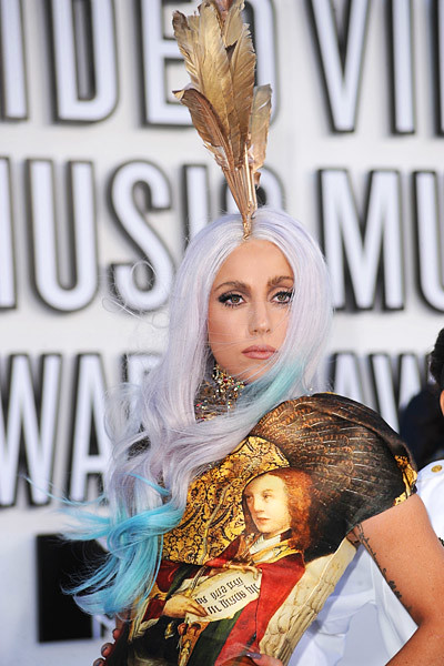 Lady Gaga Renaissance Golden Dress 2010 MTV Video Music Awards VMA